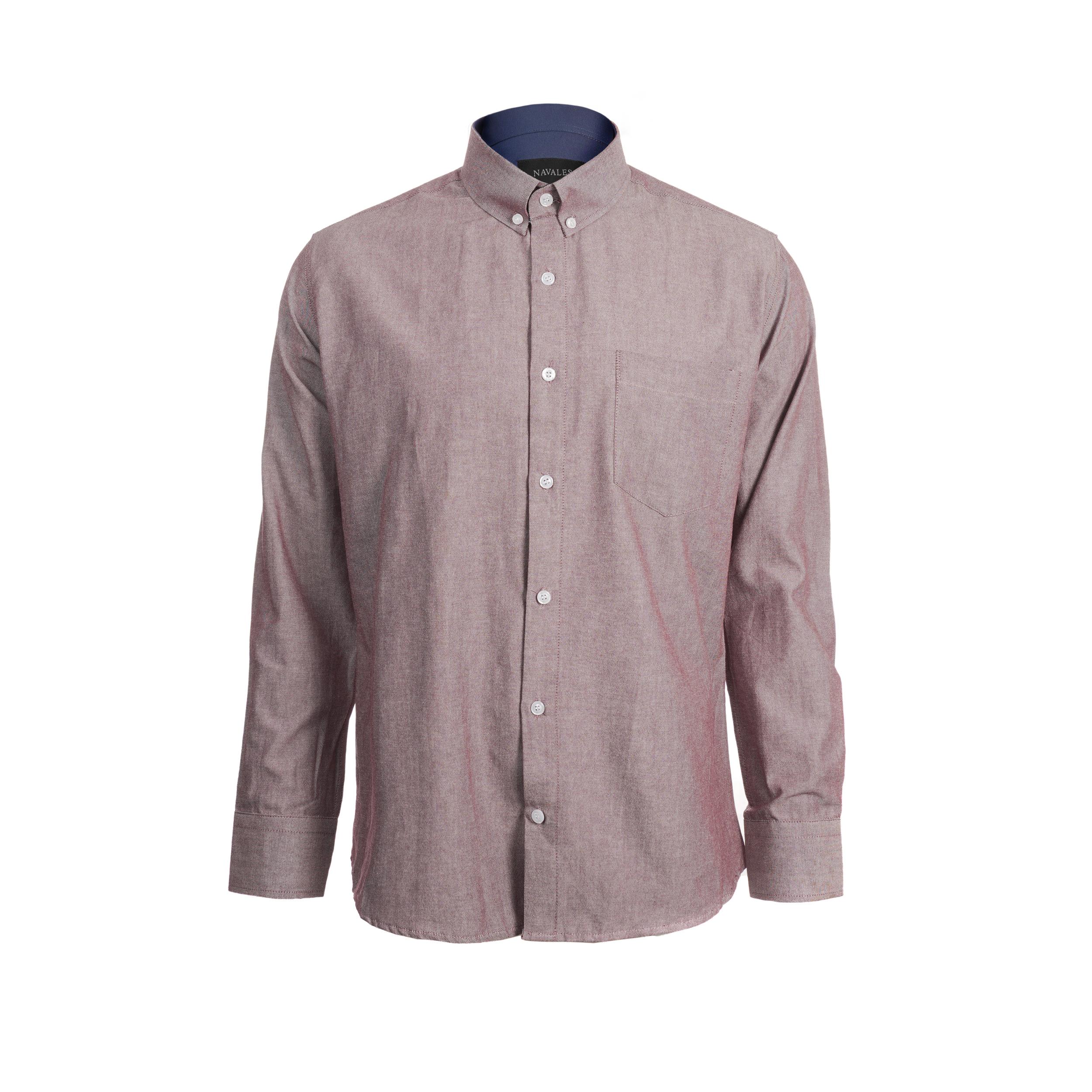 پیراهن آستین بلند مردانه ناوالس مدل 8020KH-BW