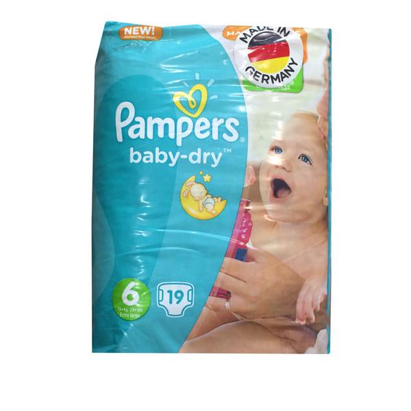 پوشک پمپرز مدل Baby Dry new سایز 6 بسته 19 عددی