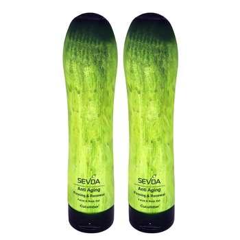 ژل ضد چروک سودا مدل Cucumber حجم 250 میلی لیتر مجموعه 2 عددی