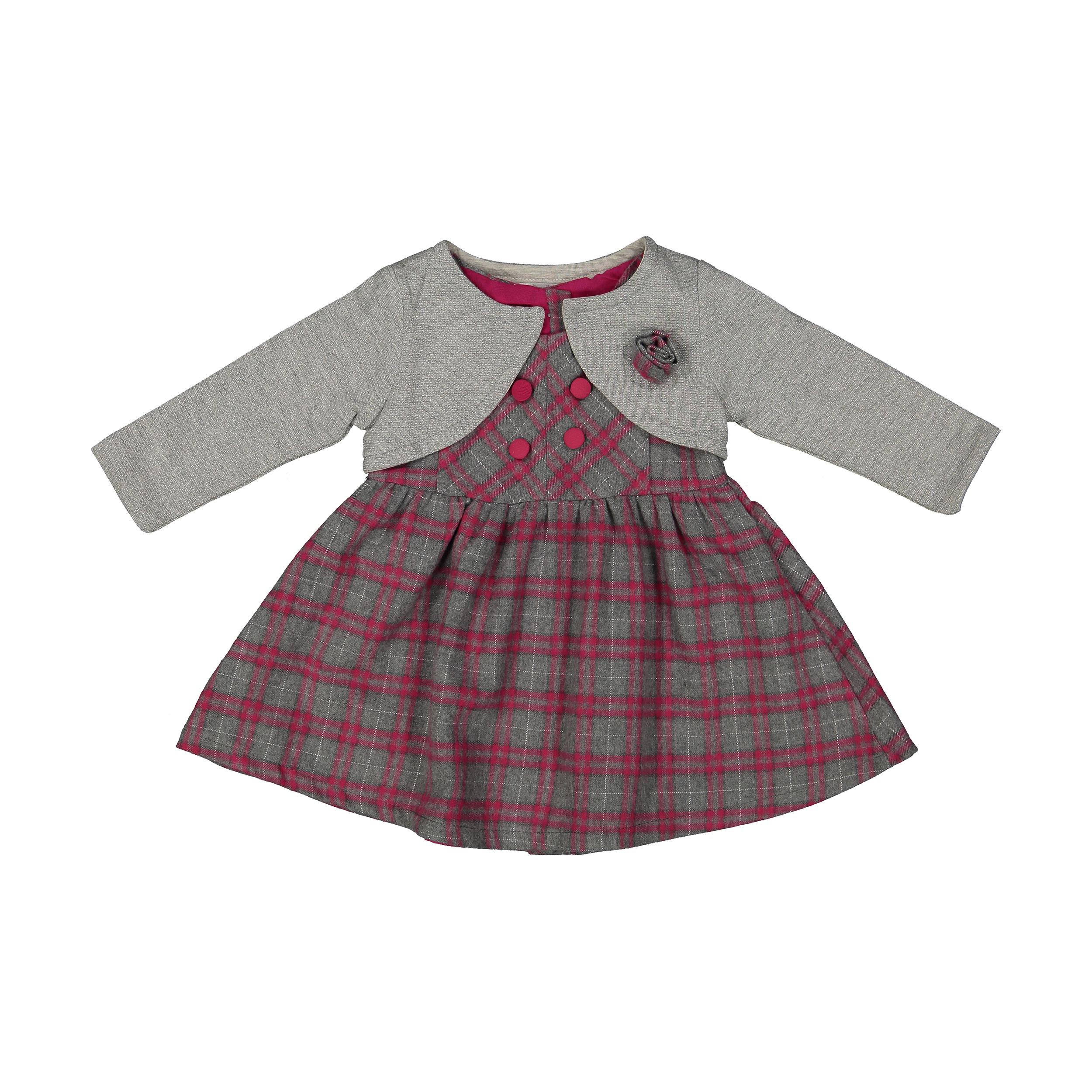 ست کت و پیراهن نوزادی دخترانه فیورلا مدل 20520