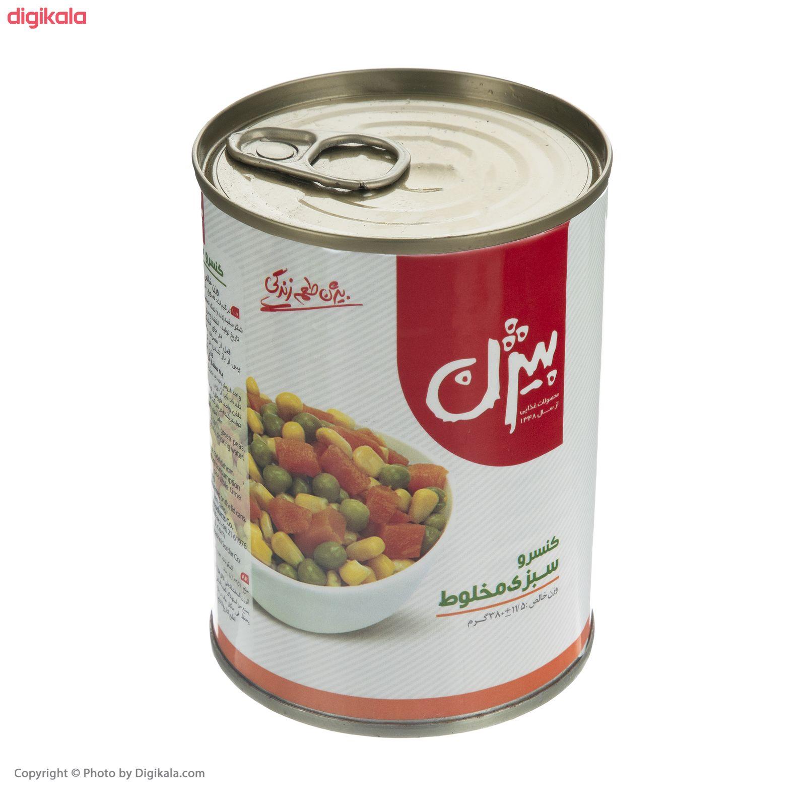 کنسرو سبزی مخلوط بیژن - 380 گرم main 1 3