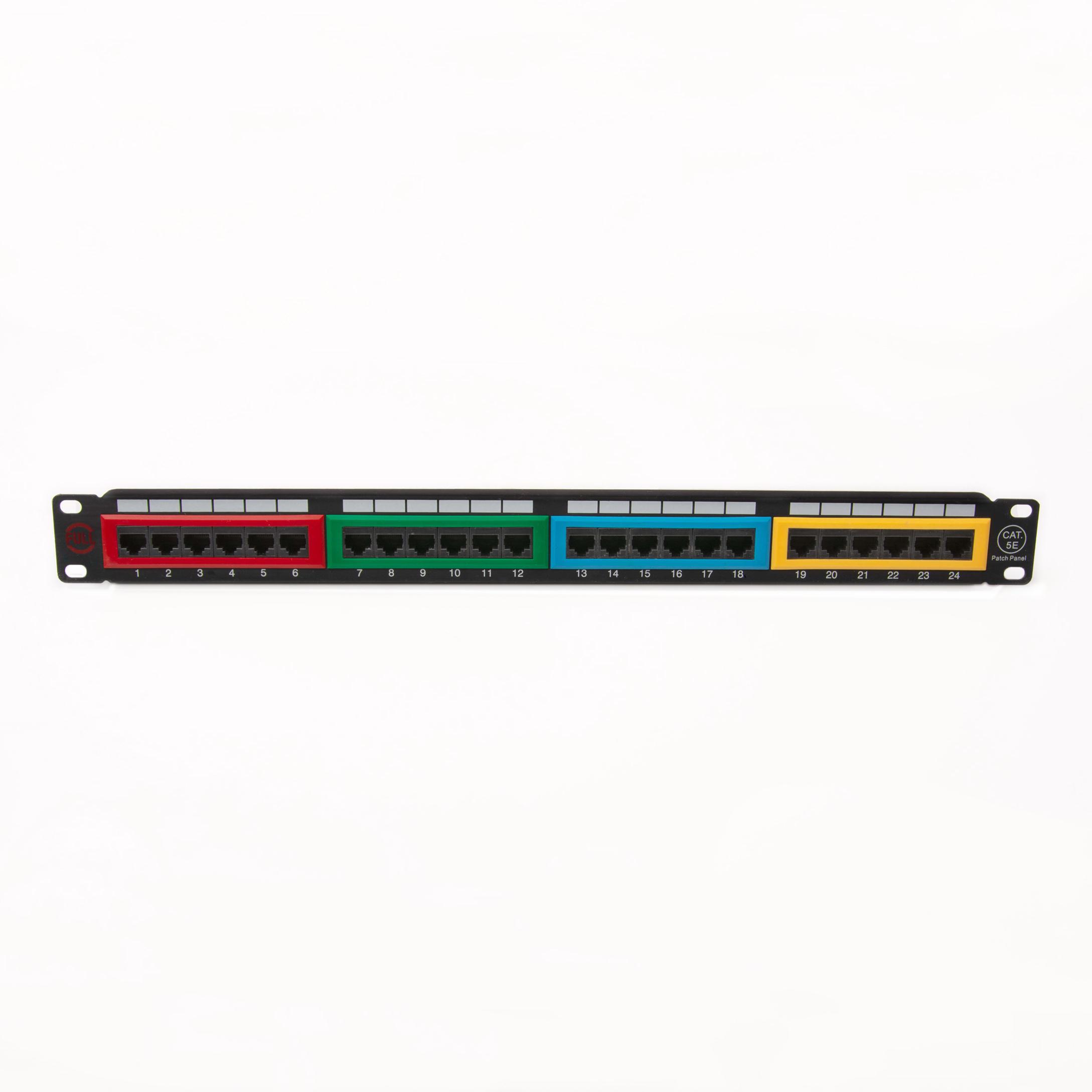 پچ پنل 24 پورت فول مدل UTP5E-24P