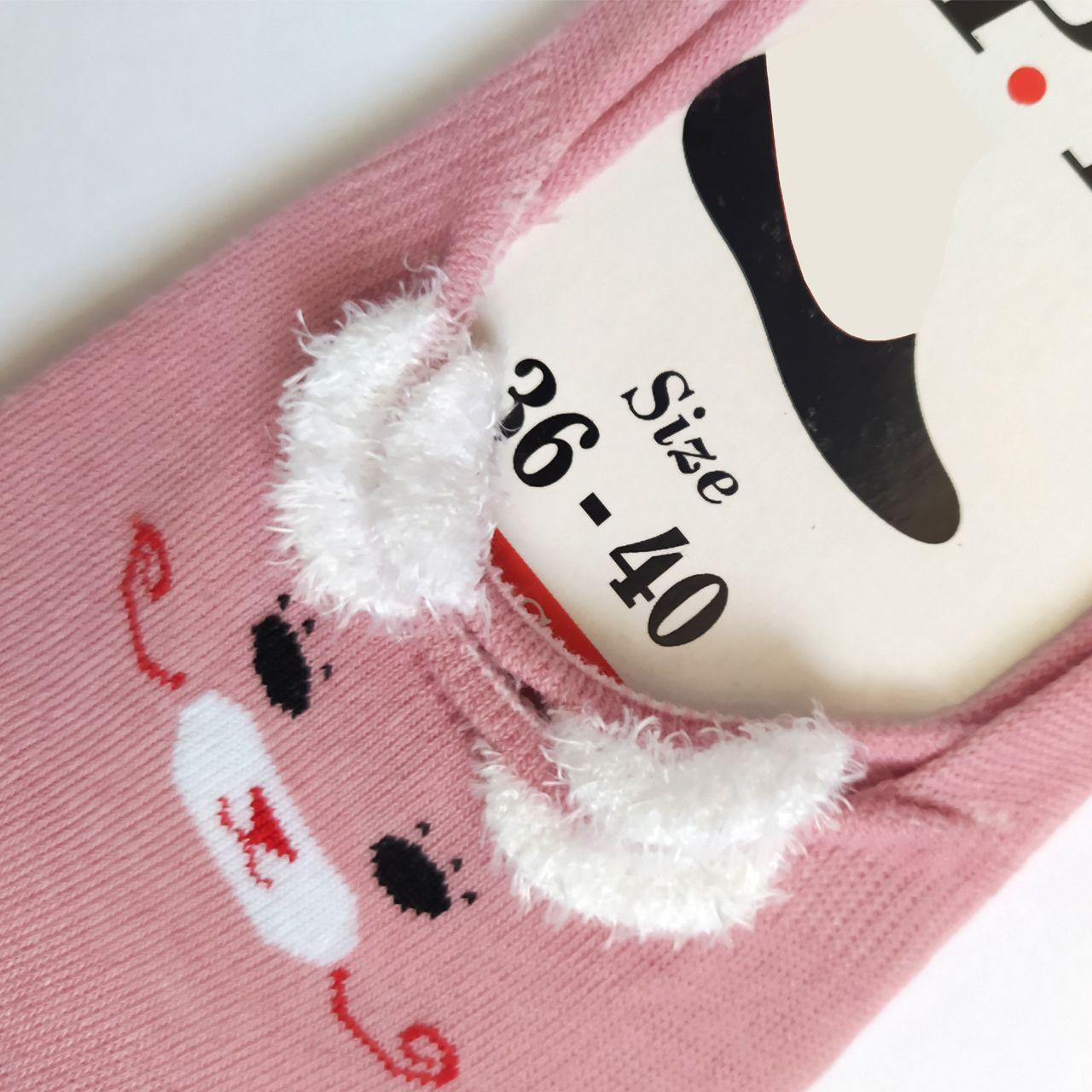 جوراب زنانه پی تی طرح گربه کد J021 -  - 3