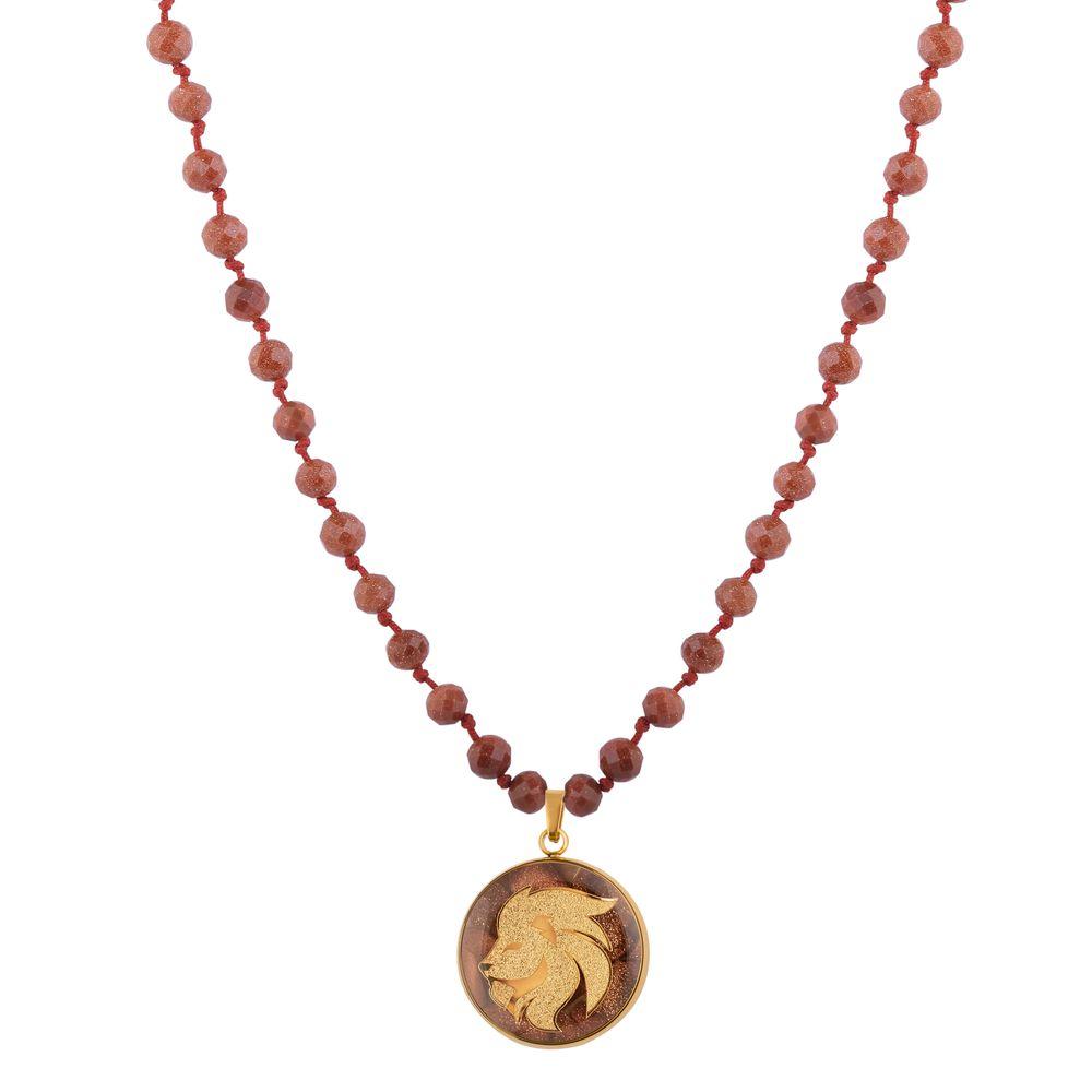 گردنبند زنانه الون طرح نماد ماه مرداد کد DEL102