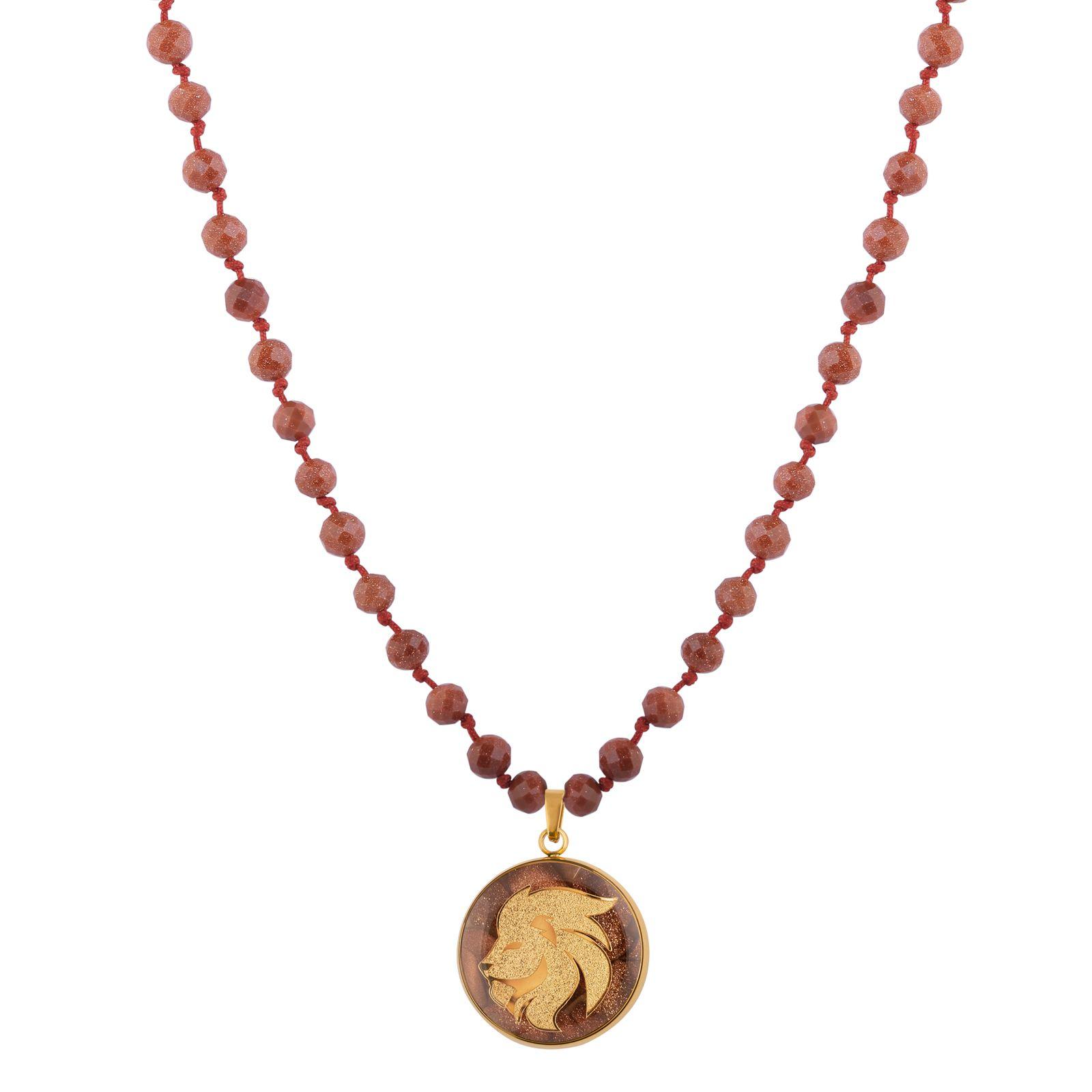 گردنبند زنانه الون طرح نماد ماه مرداد کد DEL102 -  - 2