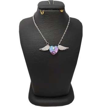 گردنبند نقره زنانه سواروسکی مدل پرواز عشق