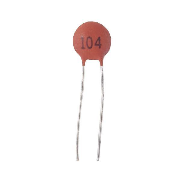 خازن عدسی 100 نانو فاراد کد 104 بسته 51 عددی