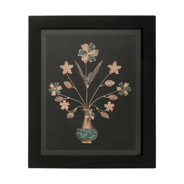تابلو فیروزه کوبی طرح گل و گلدان کد 3