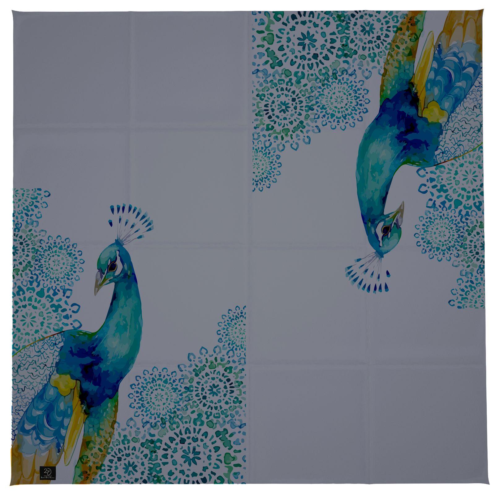 روسری زنانه 27 طرح طاووس کد H04 -  - 10