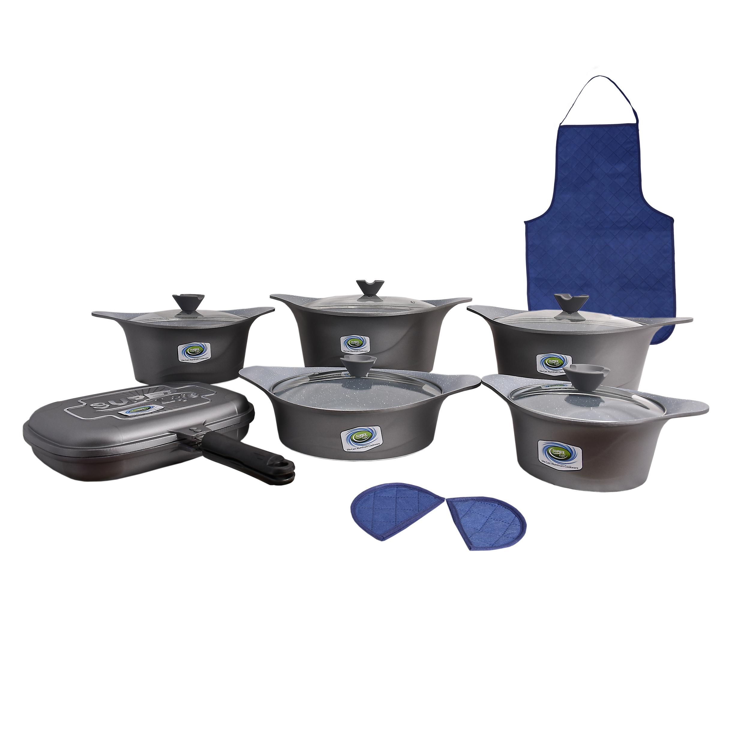 سرویس پخت و پز 15 پارچه سوپرلایف مدل kc11