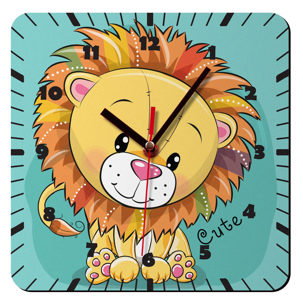 ساعت دیواری کودک ژیوار مدل شیر کوچولو کد 62