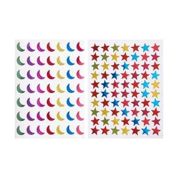 برچسب طرح ماه و ستاره بسته دو عددی