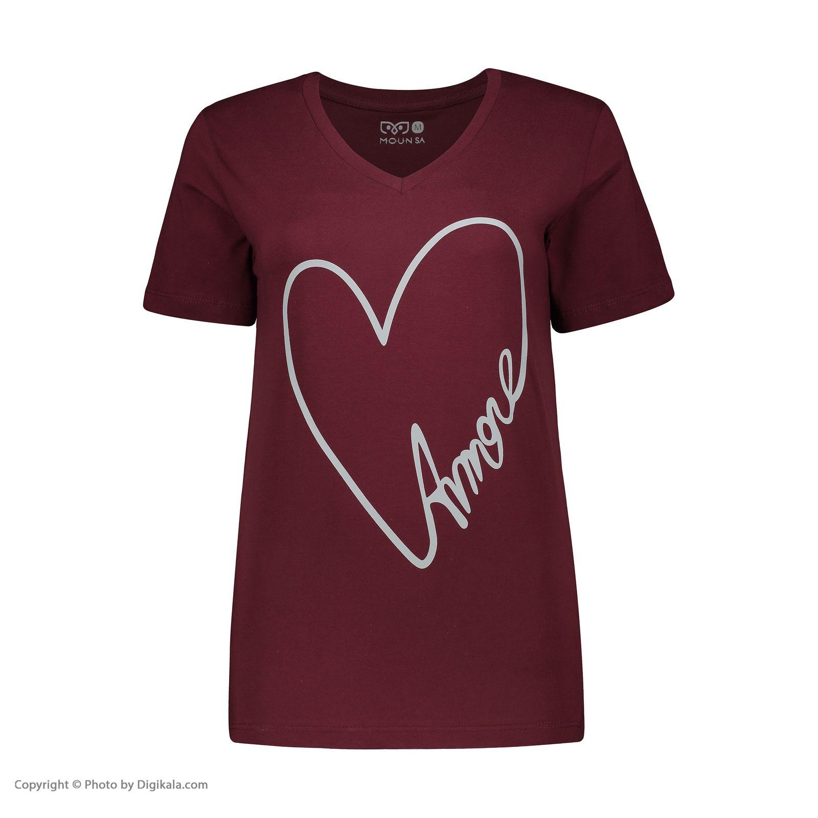تصویر تی شرت زنانه مون مدل 163117270