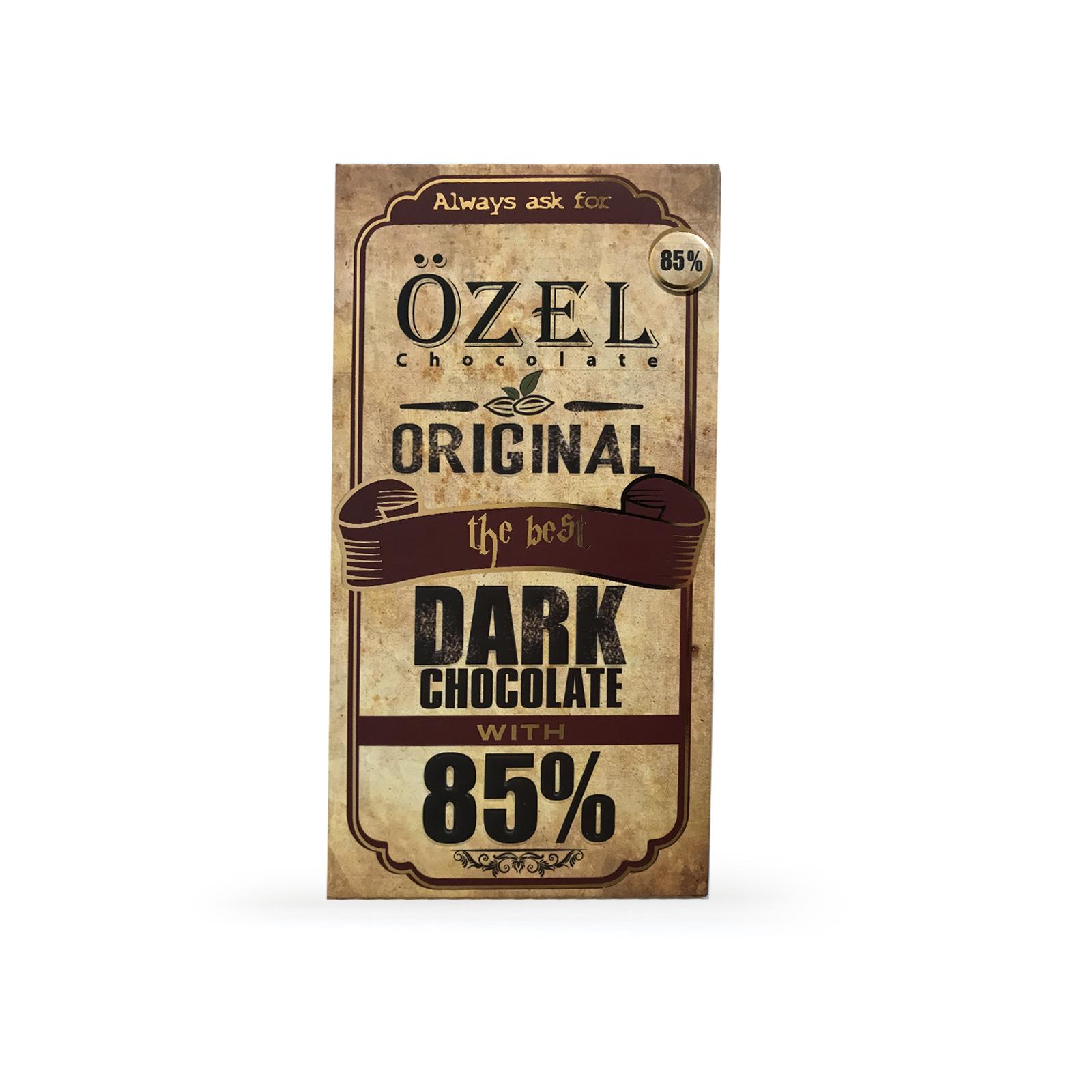 شکلات تلخ 85 درصد کرال - 80 گرم
