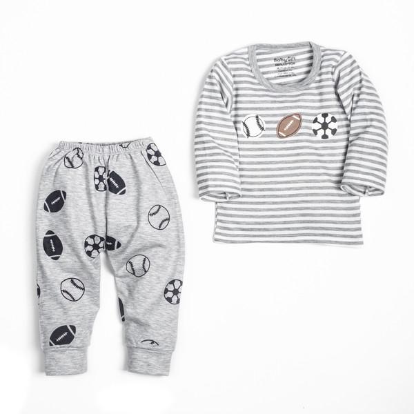 ست تی شرت و شلوار نوزادی مدل توپ کد 11