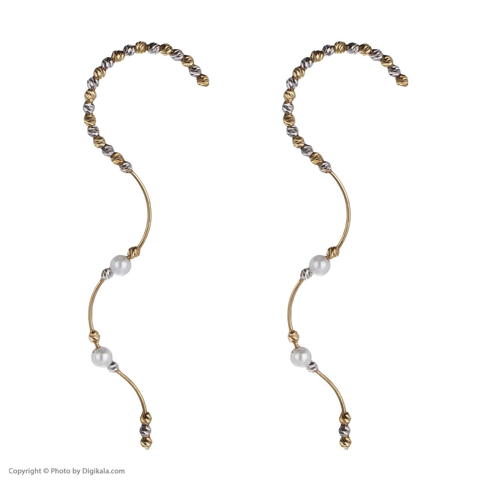 گوشواره طلا 18 عیار زنانه سیودو مدل 146436 -  - 3