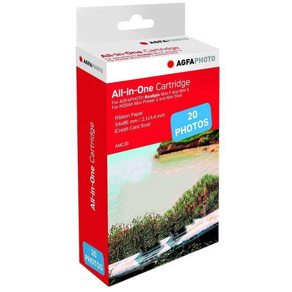 کاغذ چاپ سریع آگفافوتو مدل Mini P AMC20 سایز 5.4x8.6 سانتی متر بسته 20 عددی