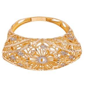 انگشتر طلا 18 عیار زنانه گالری یارطلا مدل فیوژن کد ANF01
