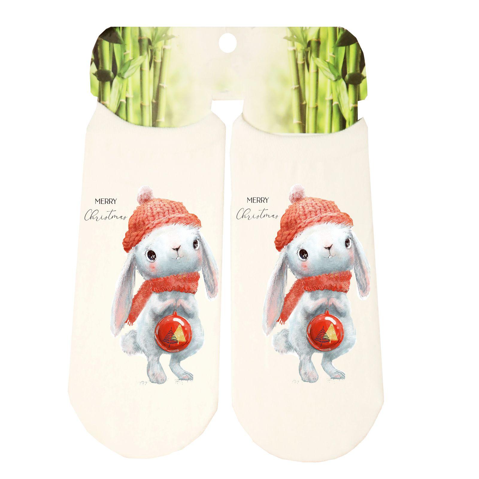 جوراب پسرانه طرح خرگوش کد SCb55 -  - 3