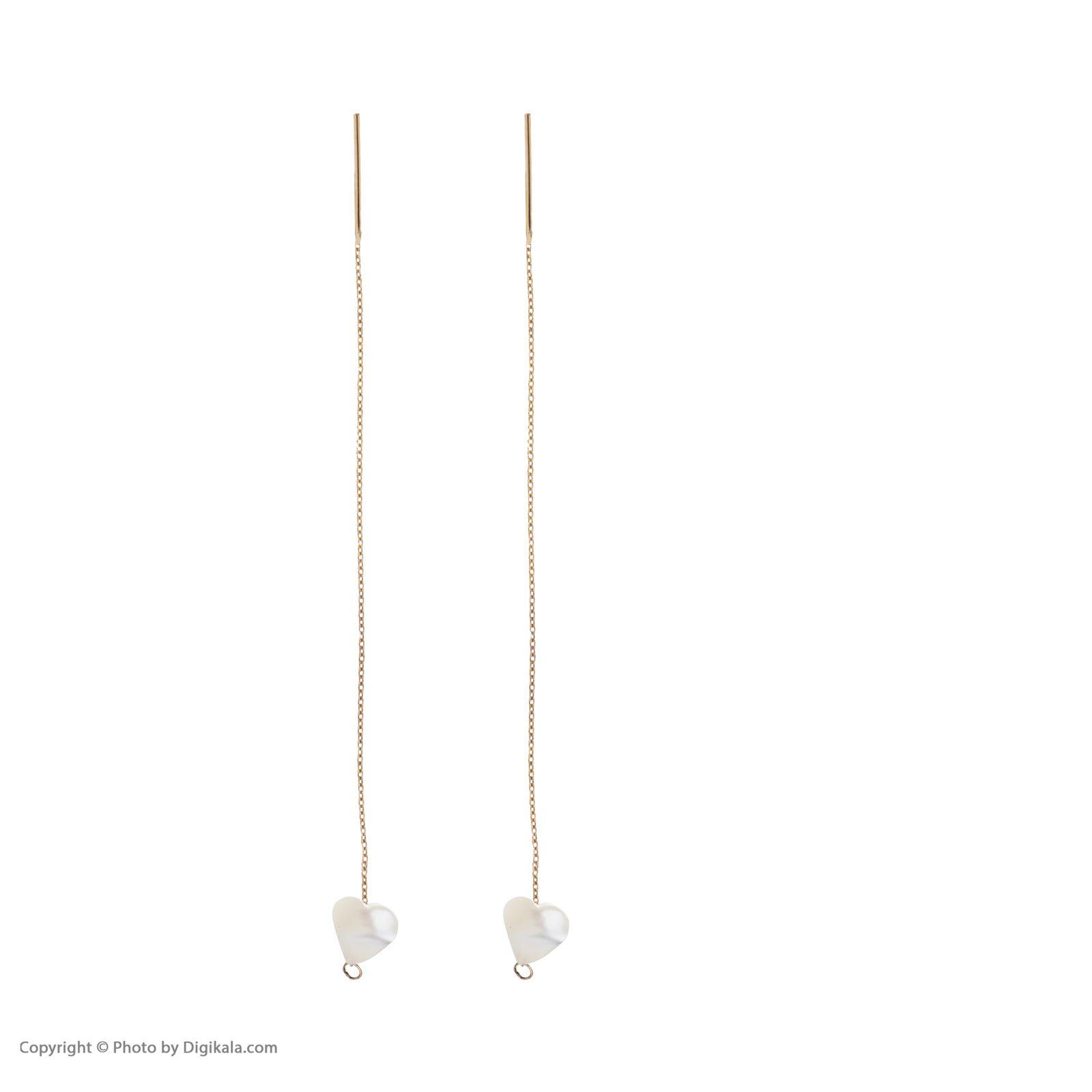 گوشواره طلا 18 عیار زنانه مایا ماهک مدل ME0848 -  - 4
