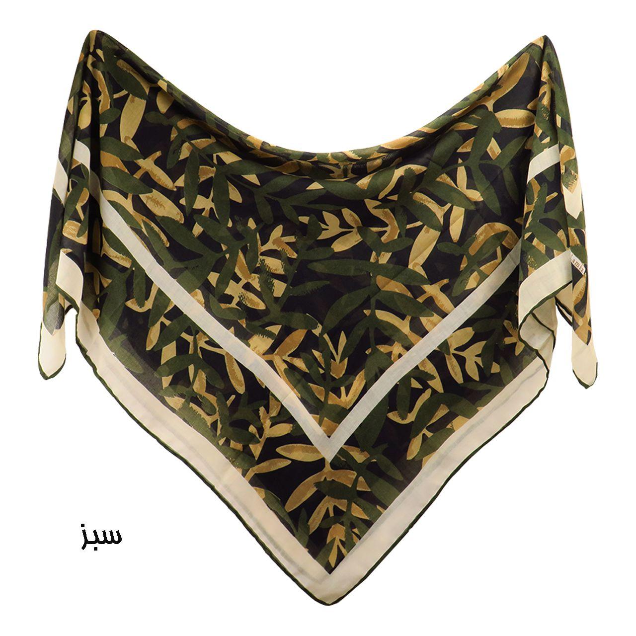 روسری زنانه لمیز مدل برگ  -  - 4