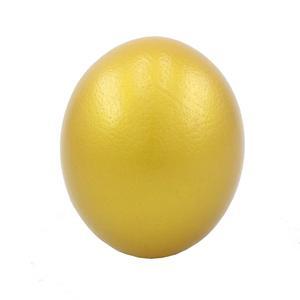 تخم شترمرغ تزیینی چرم حریر مدل طلایی