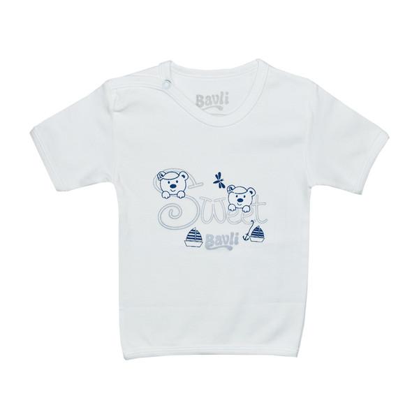تی شرت آستین کوتاه نوزادی باولی مدل خرس