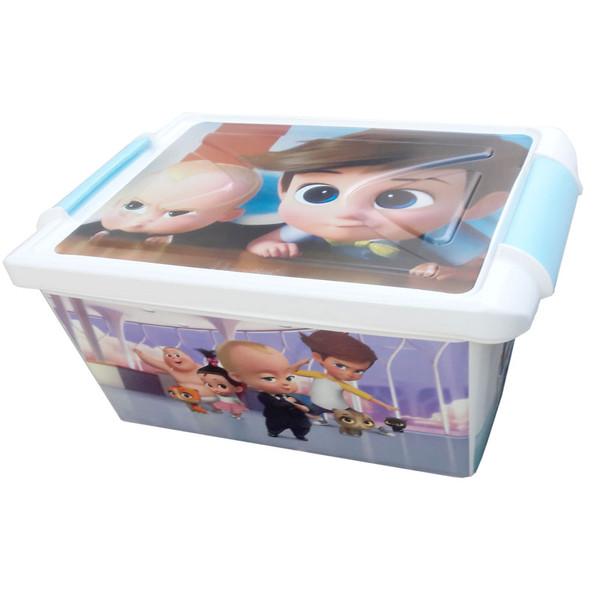 جعبه اسباب بازی کودک طرح بچه رئیس کد SM11