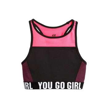 نیم تنه ورزشی دخترانه اچ اند ام مدل 0389576