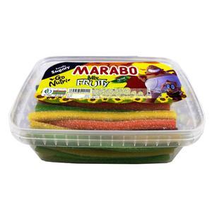 پاستیل لوله ای مارابو با طعم میوه مخلوط مقدار 900گرم