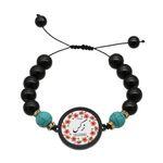 دستبند زنانه ناکسیگو طرح نرگس کد BR4073