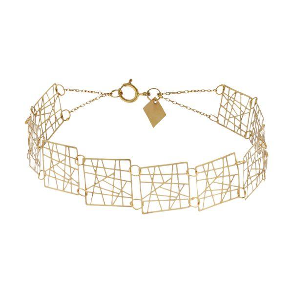 دستبند طلا 18 عیار زنانه کانیار گالری کد DG1