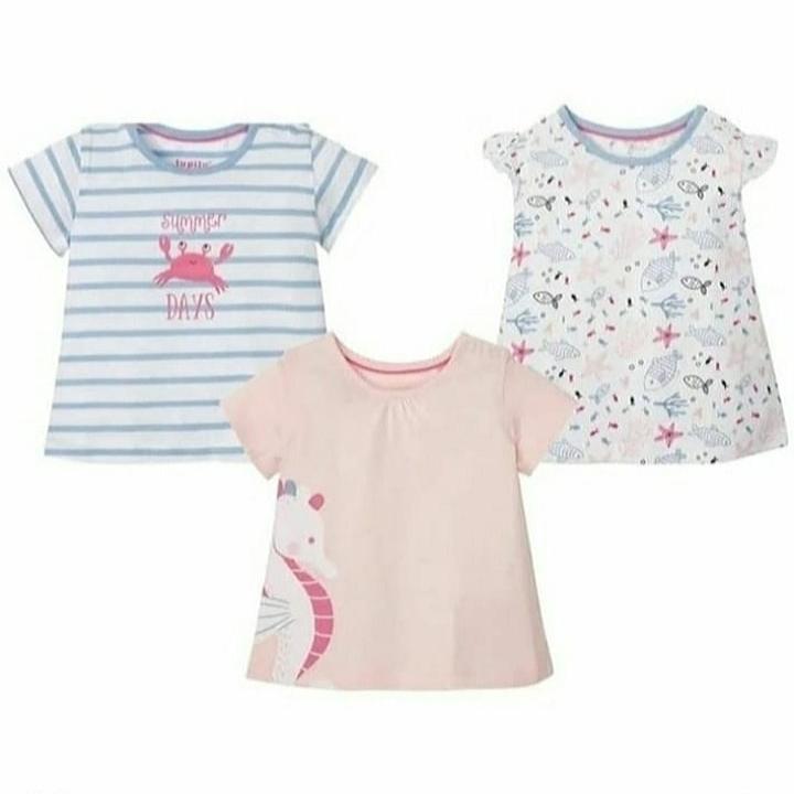 تی شرت آستین کوتاه نوزادی لوپیلو مدل 325817 مجموعه 3 عددی