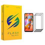 محافظ صفحه نمایش فلش مدل +HD مناسب برای گوشی موبایل سامسونگ Galaxy A11 بسته سه عددی