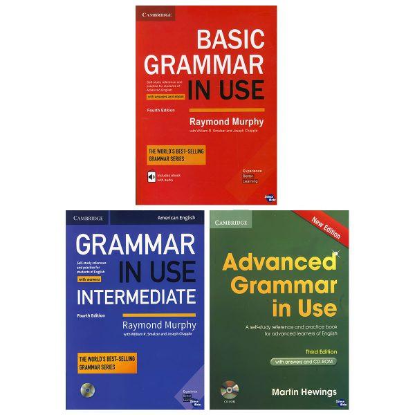 کتاب Grammar in use اثر جمعی از نویسندگان انتشارات زبان مهر 3 جلدی