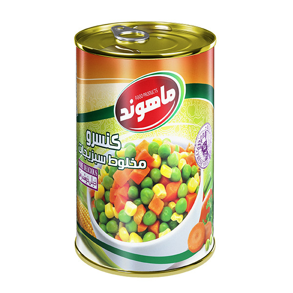 کنسرو مخلوط سبزیجات ماهوند - 380 گرم