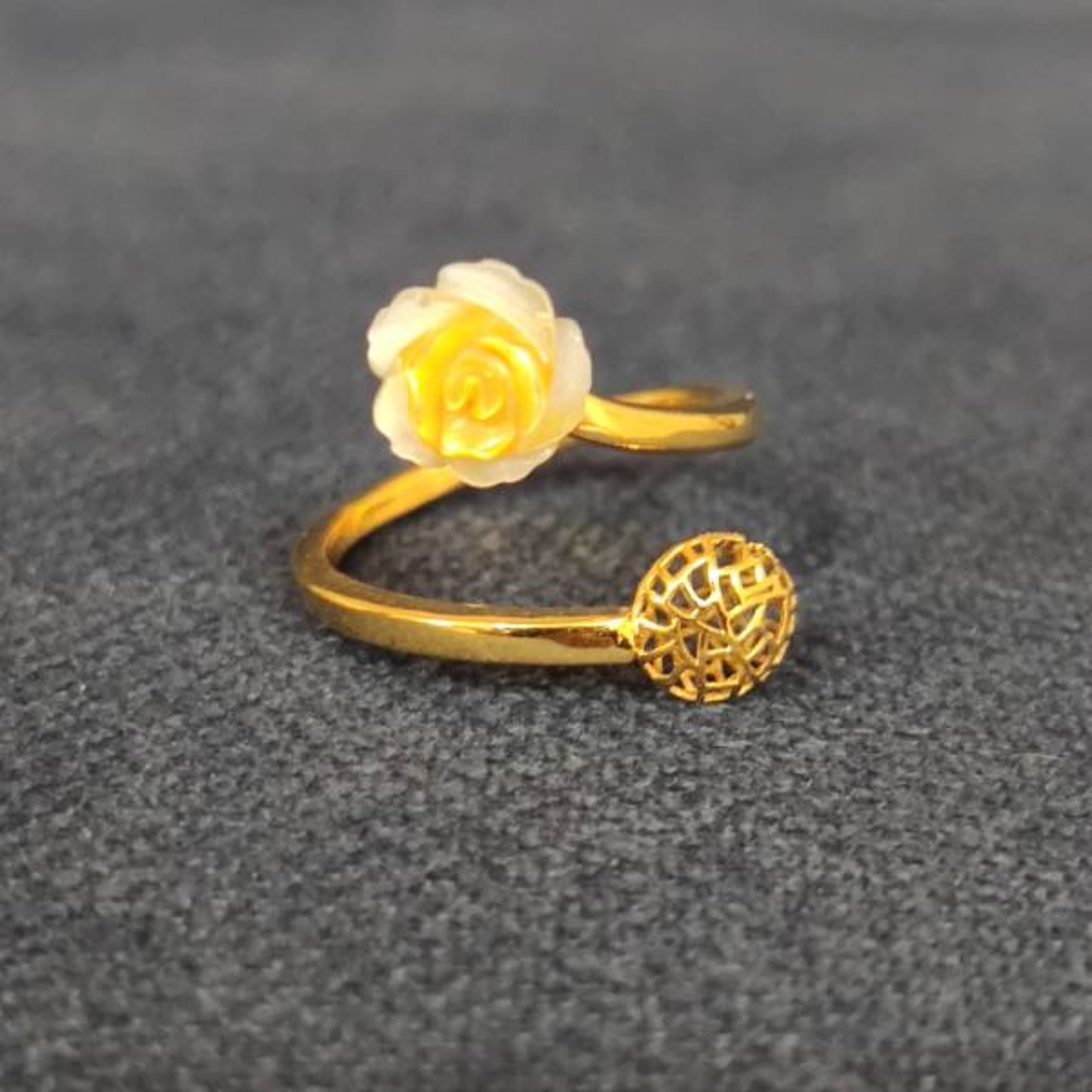 انگشتر طلا 18 عیار زنانه قیراط طرح دایره کد GH225