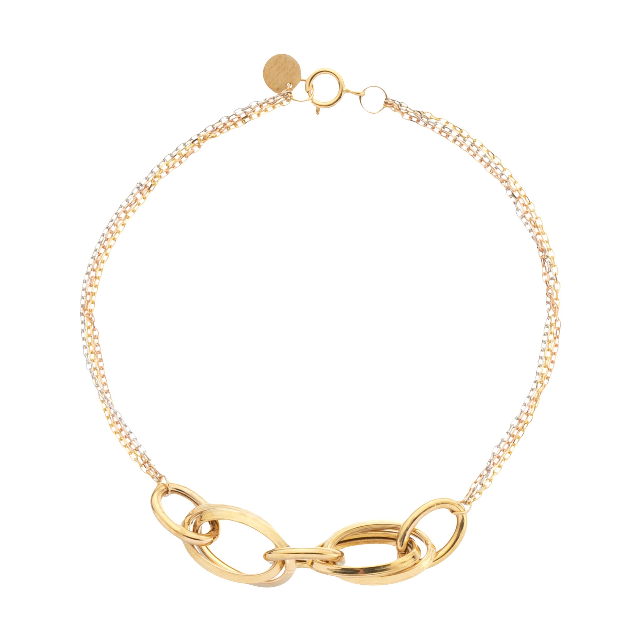 دستبند طلا 18 عیار زنانه ناتروسا مدل NG248