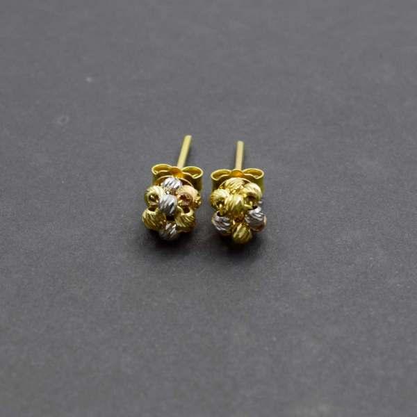 گوشواره طلا 18 عیار زنانه کانیار گالری مدل E17