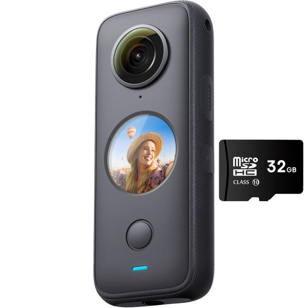 دوربین فیلم برداری ورزشی اینستا 360 مدل One X2 به همراه مموری کارت 32 گیگ