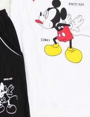 ست تیشرت و شلوارک پسرانه مدل میکی موس کد 136r -  - 3