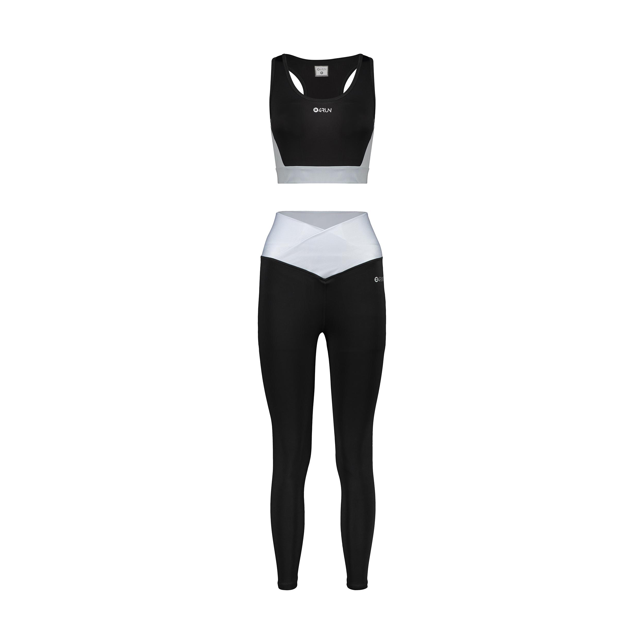 ست نیم تنه و لگینگ ورزشی زنانه بی فور ران مدل 2109210-99
