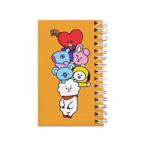 دفترچه یادداشت طرح بی تی اس bt21 کد abc-5673-a