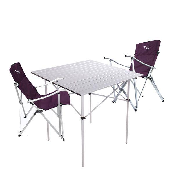 میز و صندلی سفری تیتو مدل Ti2 مجموعه ۳ عددی