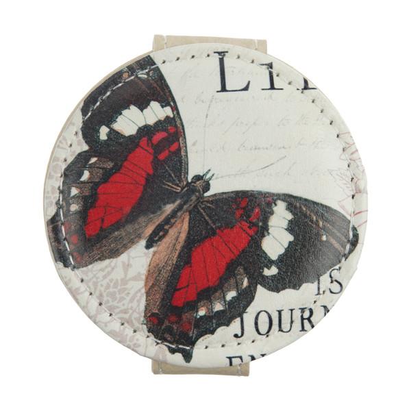 آینه جیبی طرح پروانه کد 90515