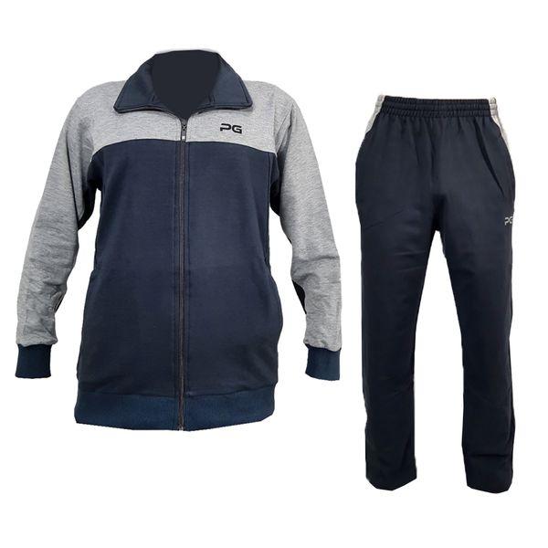 ست گرمکن و شلوار ورزشی مردانه پرگان مدل ۰۰۱ رنگ طوسی