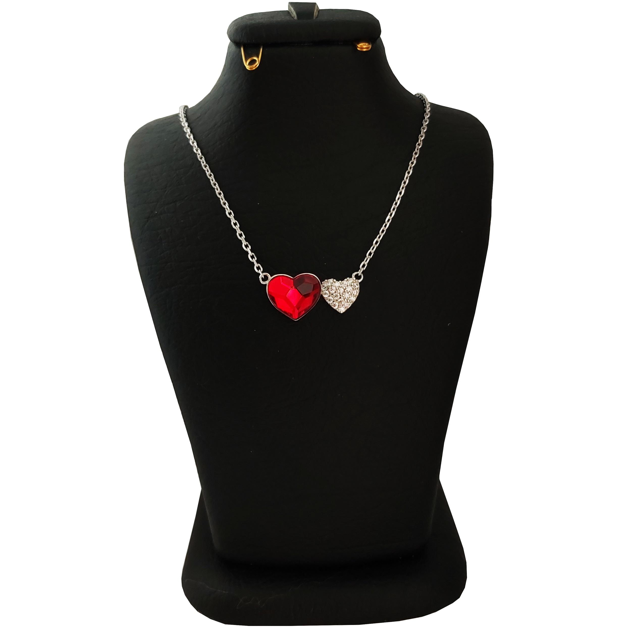 گردنبند نقره زنانه سواروسکی مدل قلب کد NR