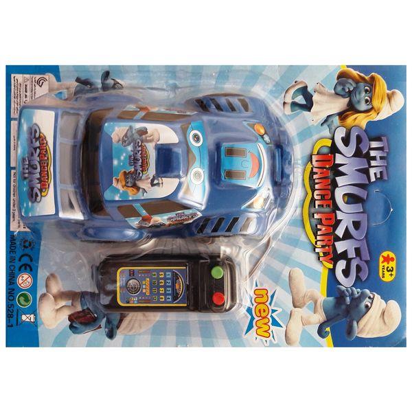 ماشین بازی کنترلی مدل مسابقه رالی طرح سمورف Rally Racing