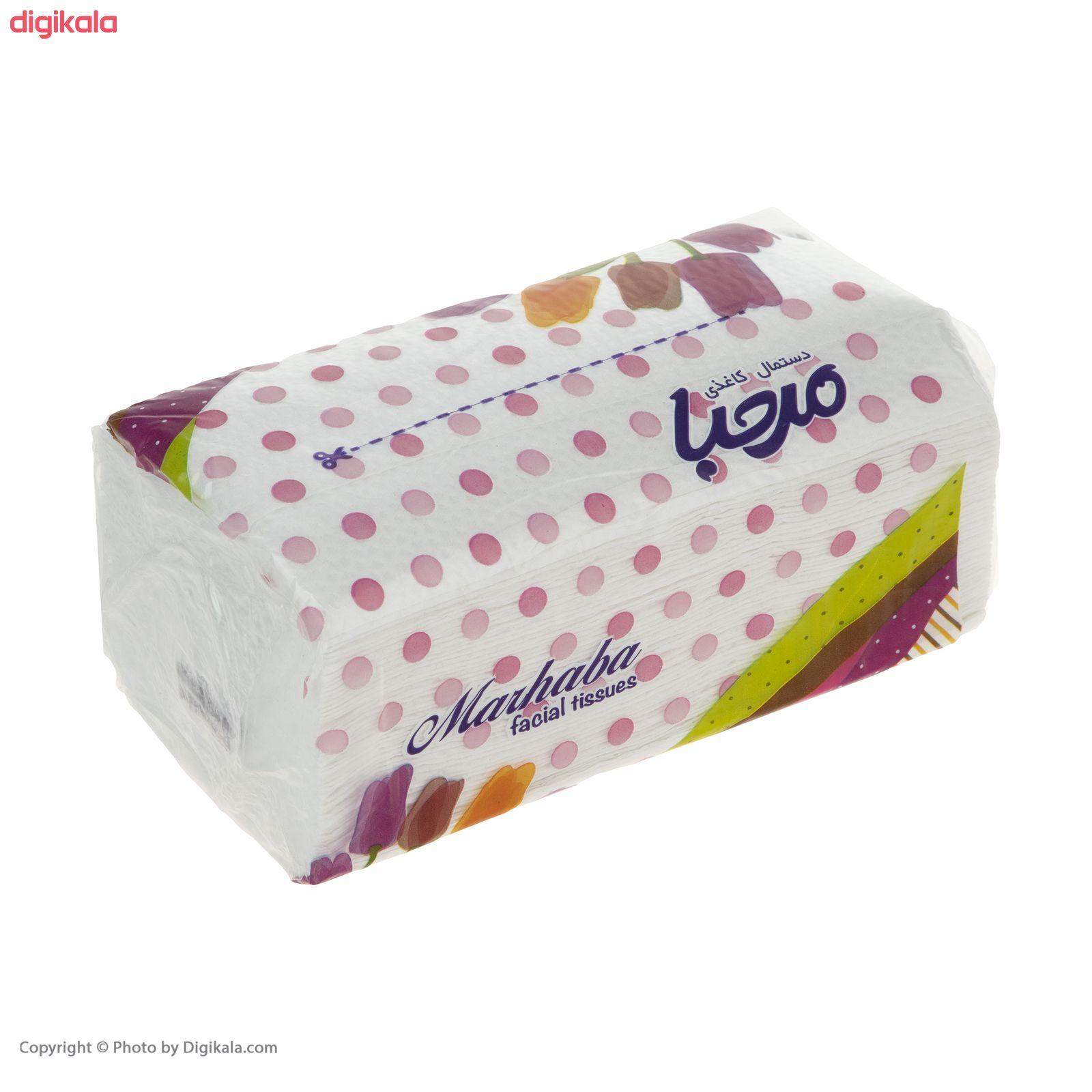 دستمال کاغذی 100 برگ مرحبا مدل Flower بسته 10 عددی main 1 9