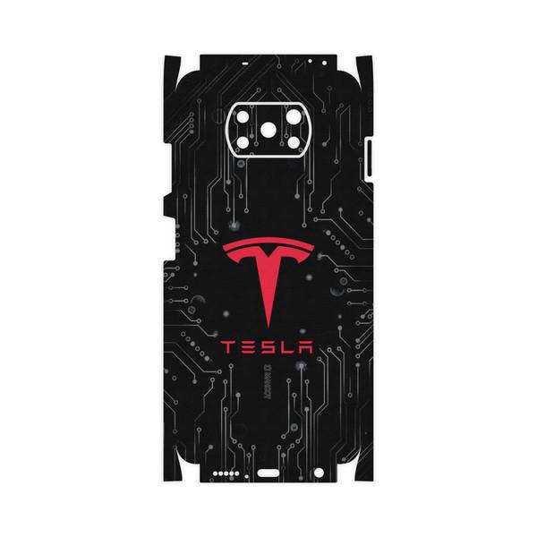 برچسب پوششی ماهوت مدل TESLA-Motors-FullSkin مناسب برای گوشی موبایل شیائومی Poco X3 NFC